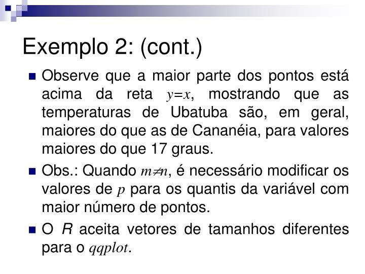 Exemplo 2: (cont.)