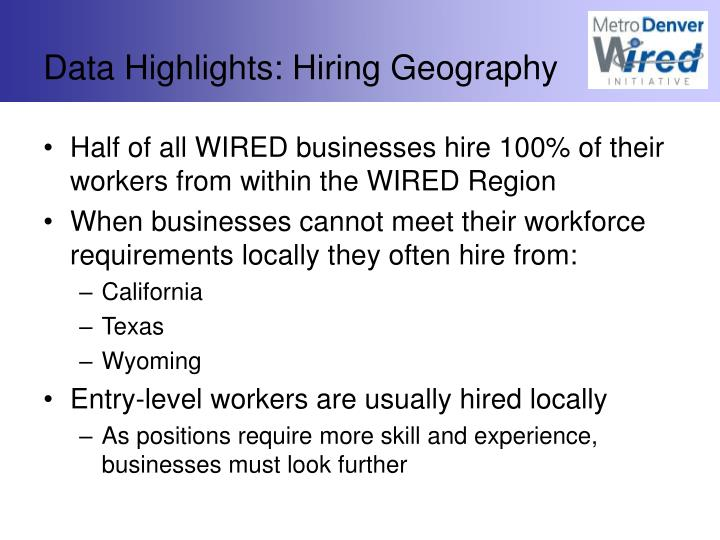 Data Highlights: Hiring Geography