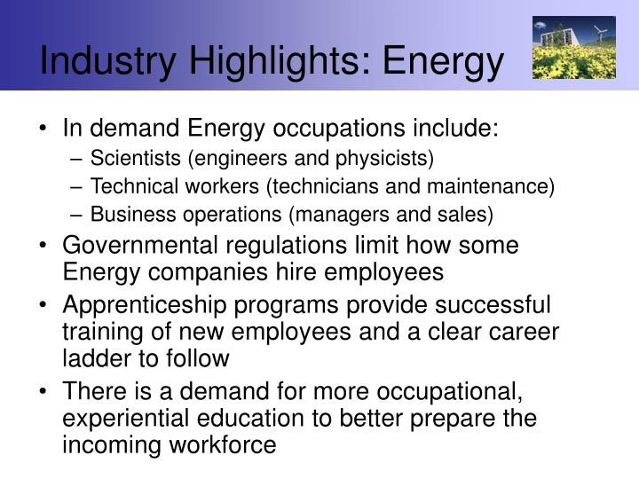 Industry Highlights: Energy