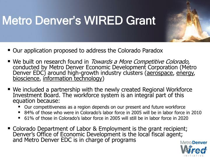 Metro Denver's WIRED Grant