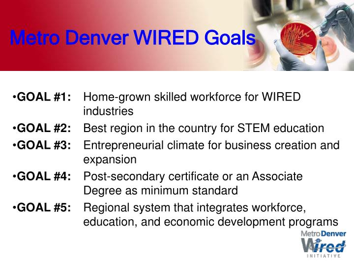 Metro Denver WIRED Goals