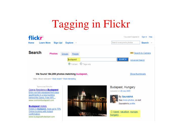 Tagging in Flickr