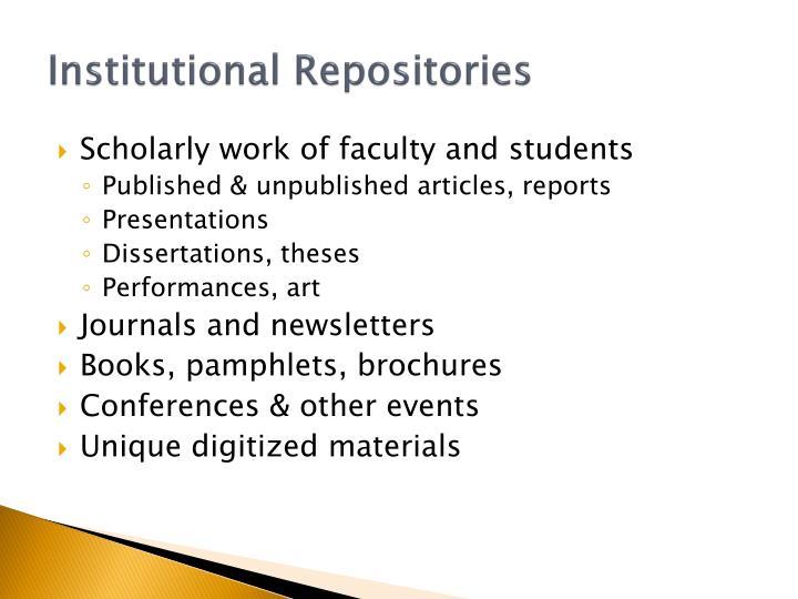 Institutional repositories1