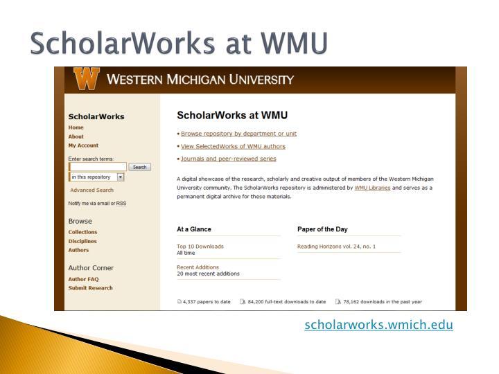 ScholarWorks at WMU