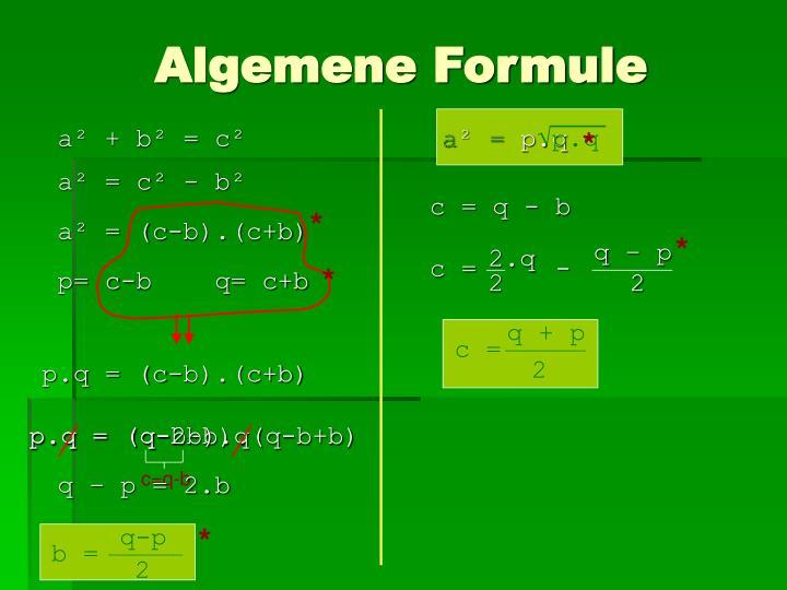 Algemene Formule
