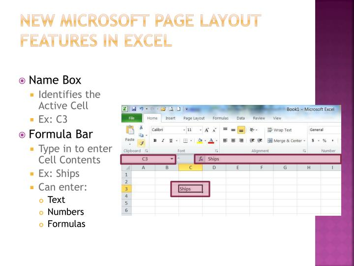 New Microsoft page layout features in Excel