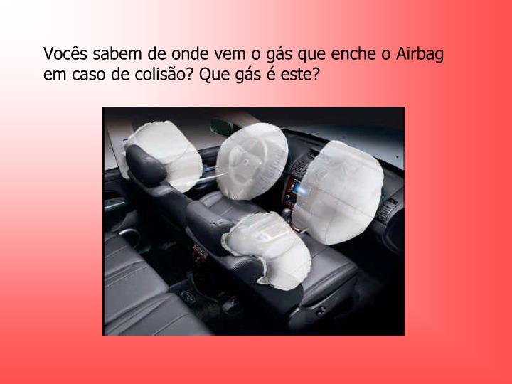 Voc s sabem de onde vem o g s que enche o airbag em caso de colis o que g s este