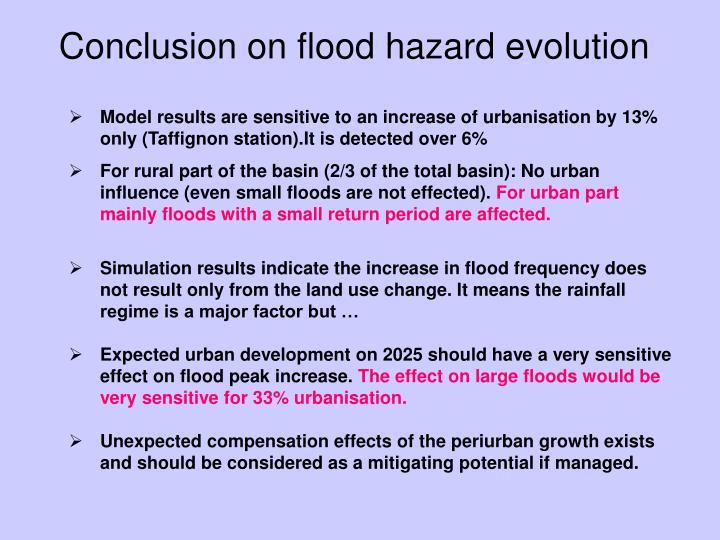 Conclusion on flood hazard evolution