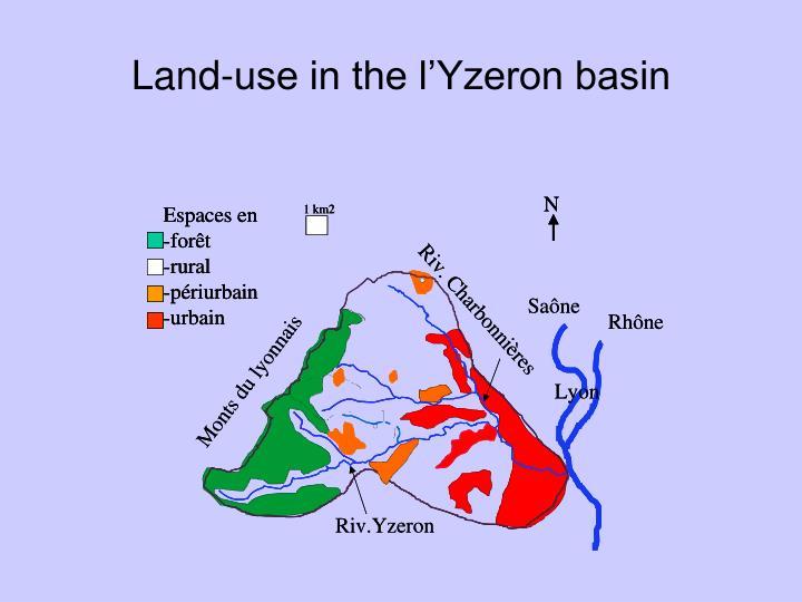 Land-use in the l'Yzeron basin