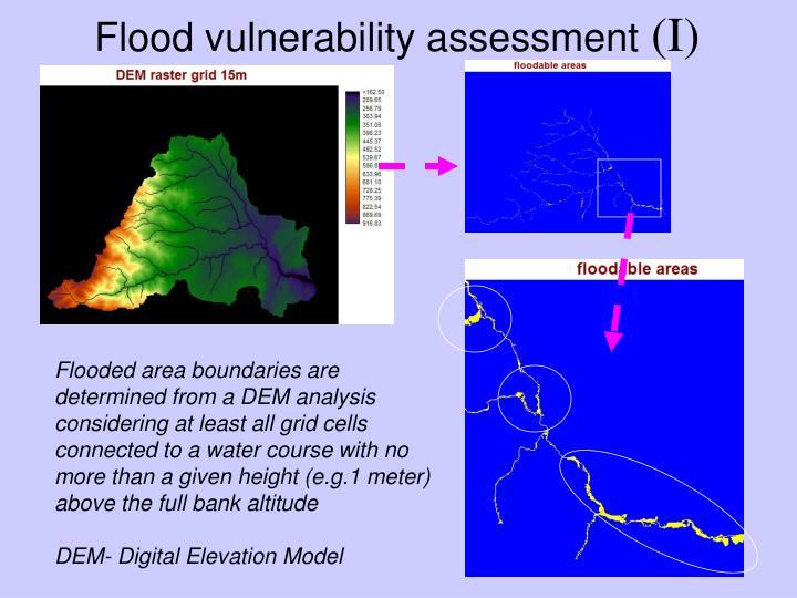 Flood vulnerability assessment