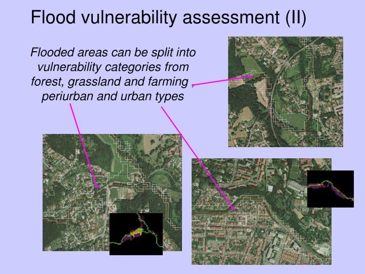 Flood vulnerability assessment (II)