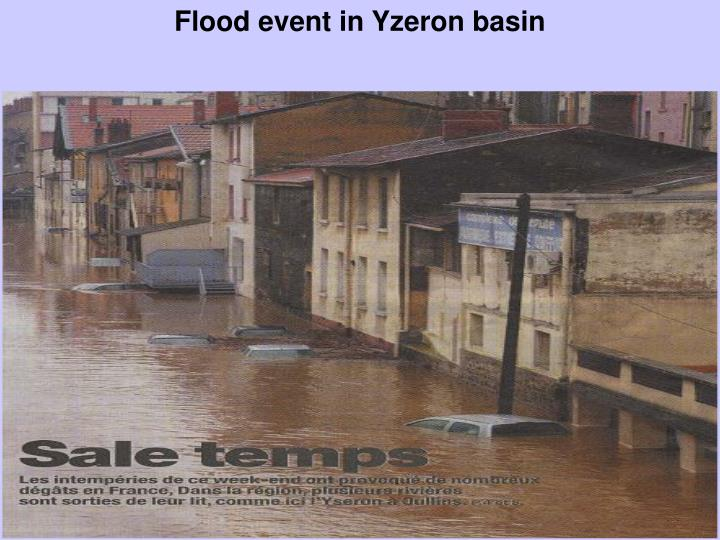 Flood event in Yzeron basin