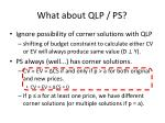 what about qlp ps