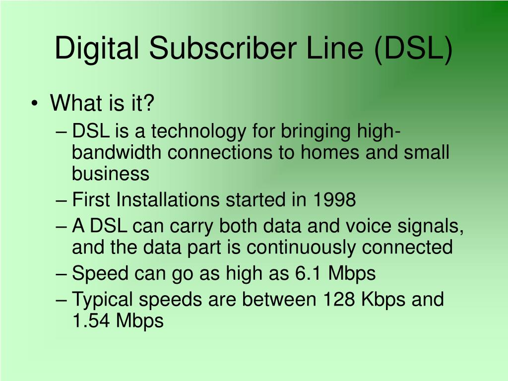 Ppt Digital Subscriber Line Dsl Powerpoint Presentation Id5027378 Wiring A House For Voice 2 N