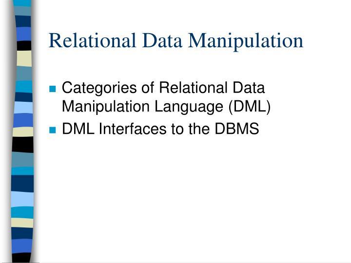 Relational data manipulation