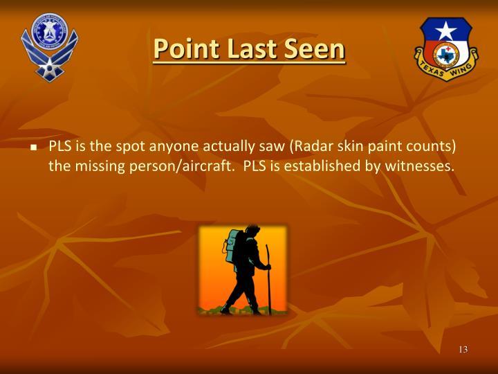 Point Last Seen