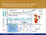 euron techtransfer award 05 open platform for skilled motions in productive robotics