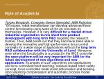 role of academia