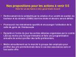nos propositions pour les actions venir 5 5 vote for us we have a very good track record