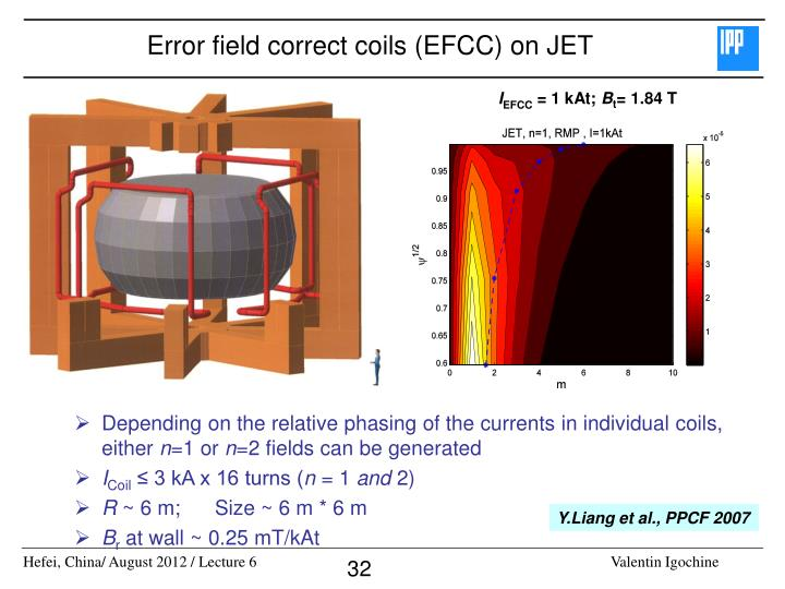 Error field correct coils (EFCC) on JET