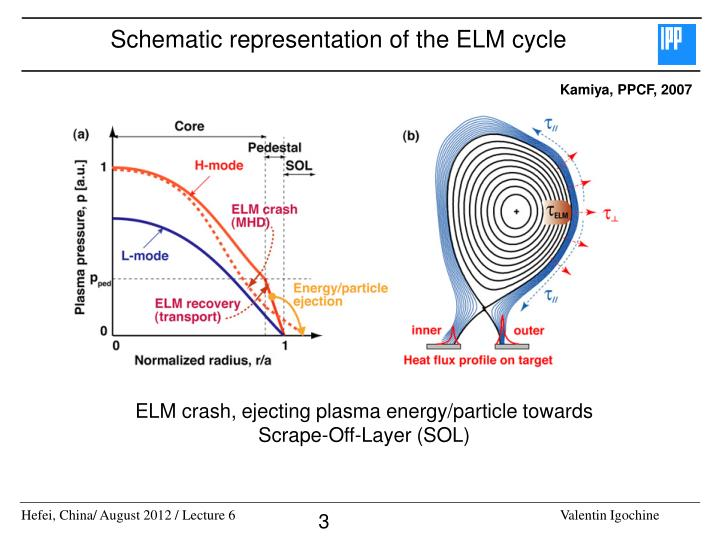 Schematic representation of the elm cycle