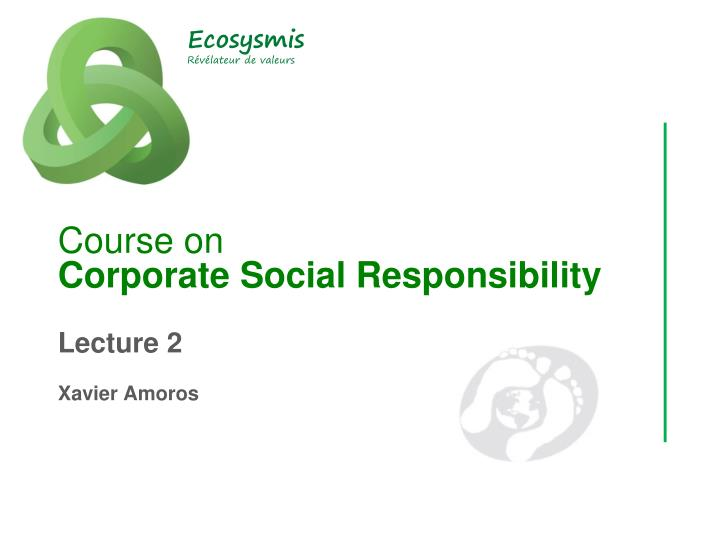 course on corporate social responsibility n.