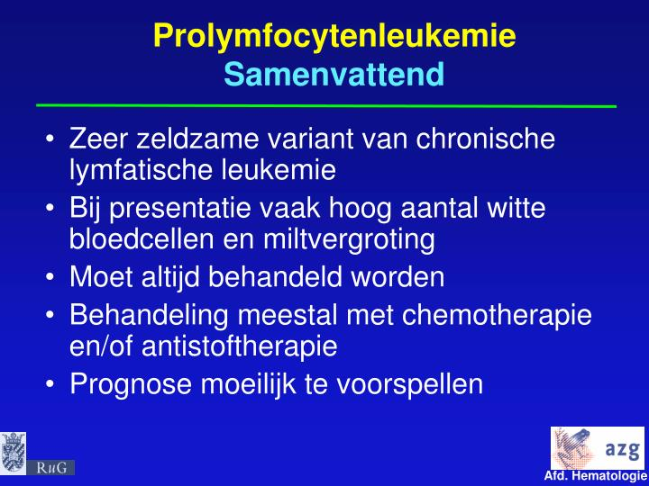 Prolymfocytenleukemie
