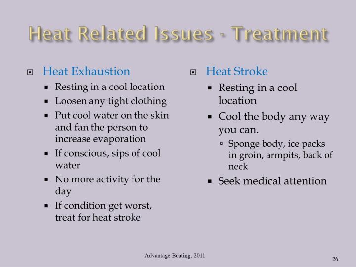 Heat Related Issues - Treatment