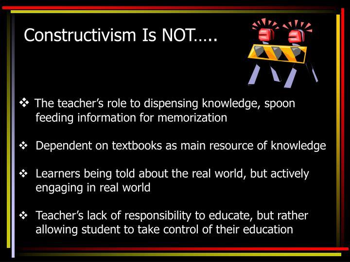 Constructivism Is NOT…..
