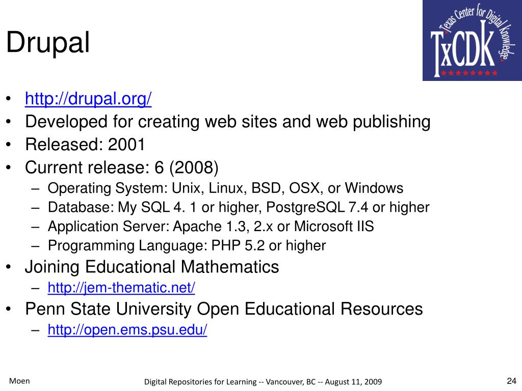 PPT - Open Source Software for Learning Object Repositories