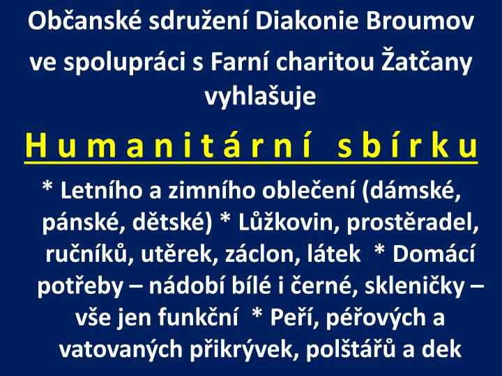 Občanské sdružení Diakonie Broumov