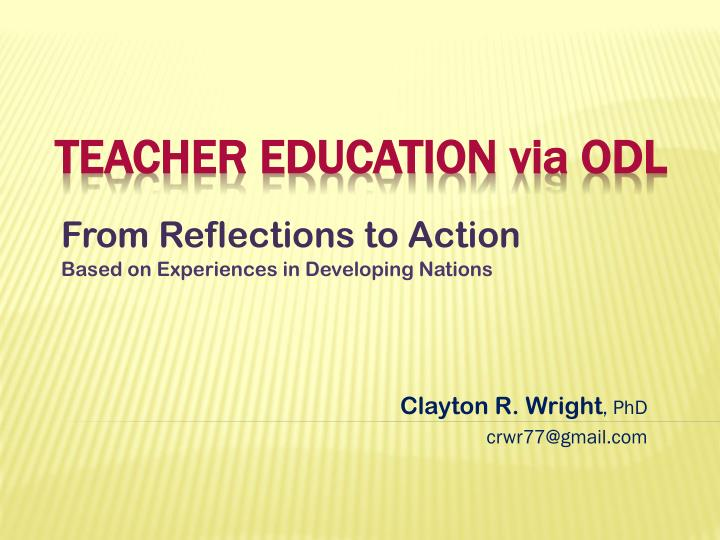 from reflections to action n.