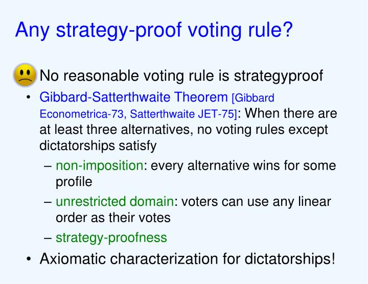 Any strategy-proof voting rule?