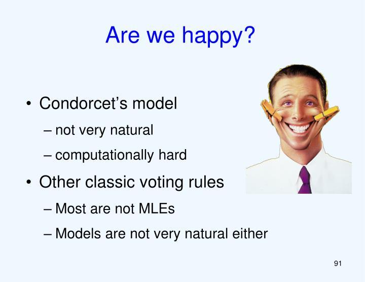Are we happy?