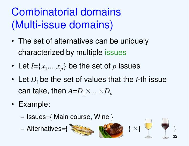 Combinatorial domains