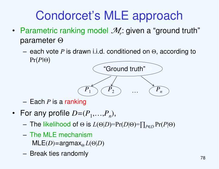 Condorcet's MLE approach