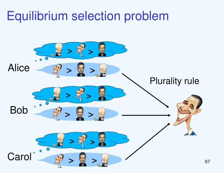 Equilibrium selection problem