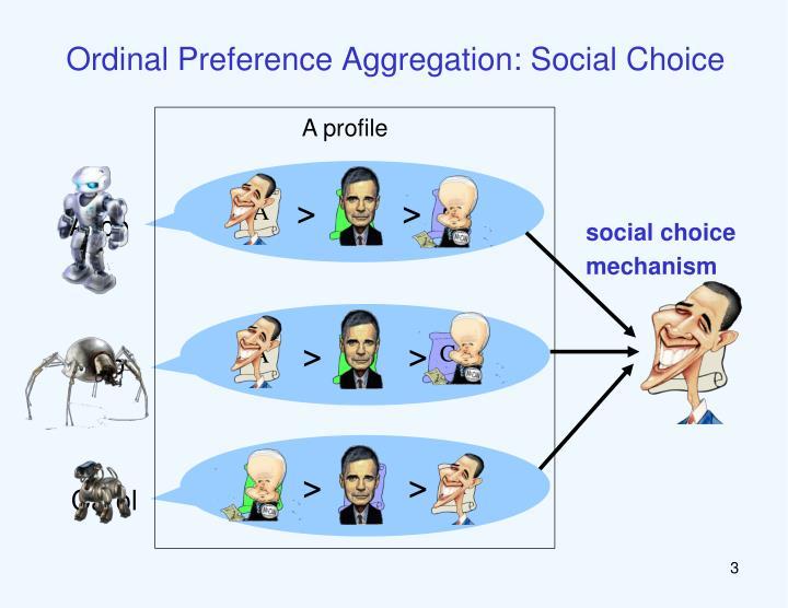 Ordinal Preference Aggregation: Social Choice