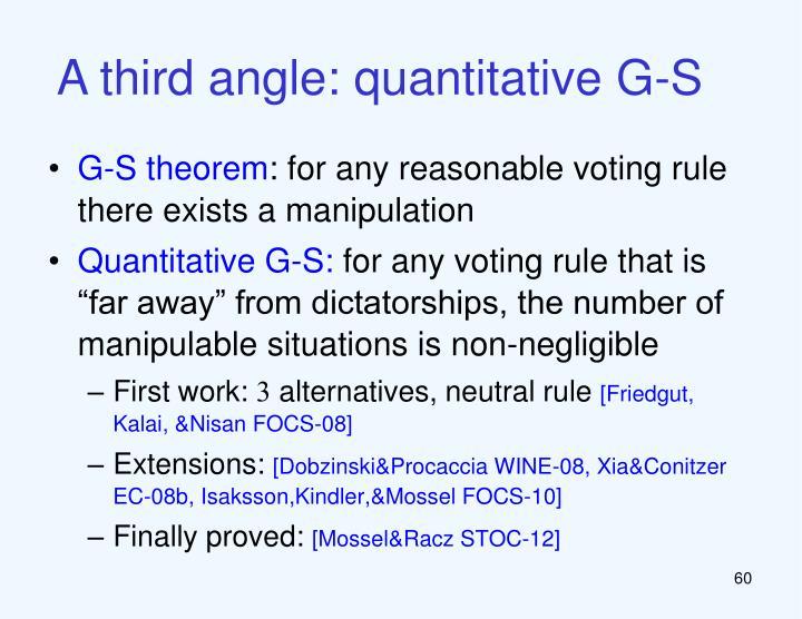 A third angle: quantitative G-S