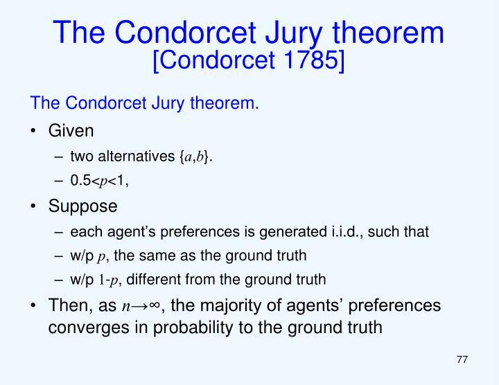 The Condorcet Jury theorem