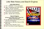 little web history and search engines