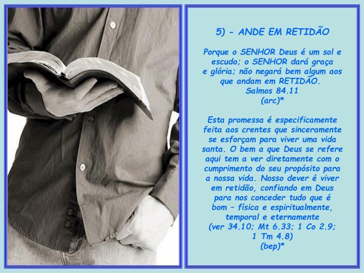 5) - ANDE EM RETIDÃO