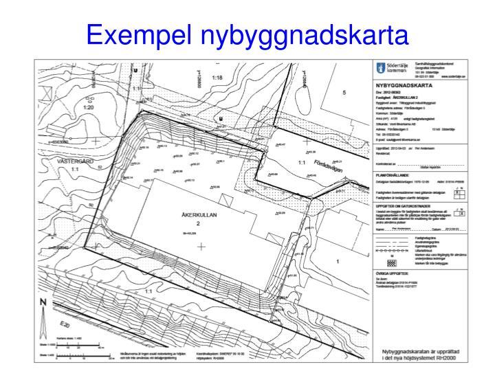 Exempel nybyggnadskarta