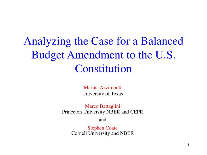 balanced budget amendment 1997 analysis During consideration of s 1 (unfunded mandates act) on january 26, 1995, the senate adopted two amendments expressing the sense of the senate concerning the treatment of social security under a constitutional balanced budget amendment 9 the senate version of the balanced budget amendment, sjres 1, was introduced by majority leader dole, and others, on january 4, 1995, and referred to the senate judiciary committee.