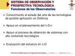 sistema de observaci n y prospectiva tecnol gica funciones de los observatorios