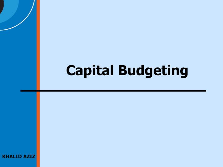an introduction to the capital budgeting mba