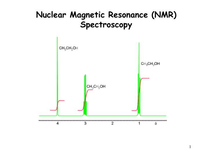 Ppt Nuclear Magnetic Resonance Nmr Spectroscopy Powerpoint