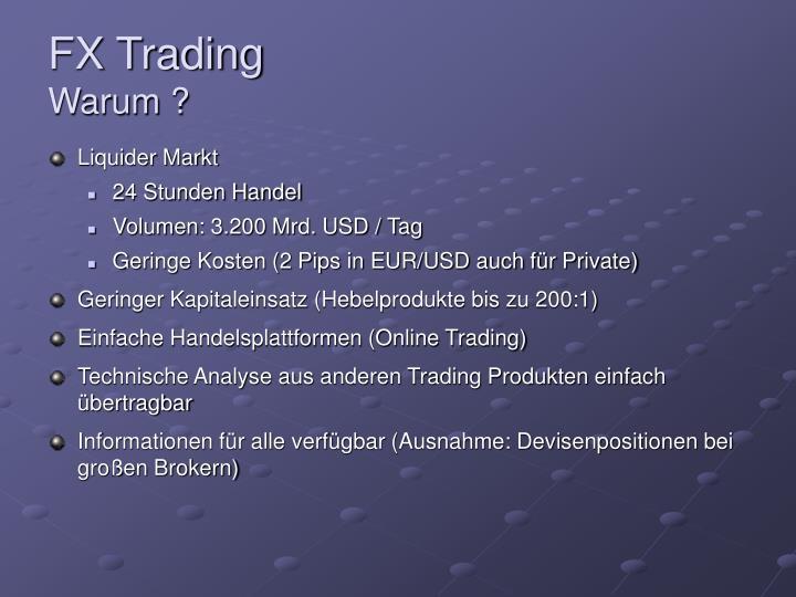 Fx trading warum