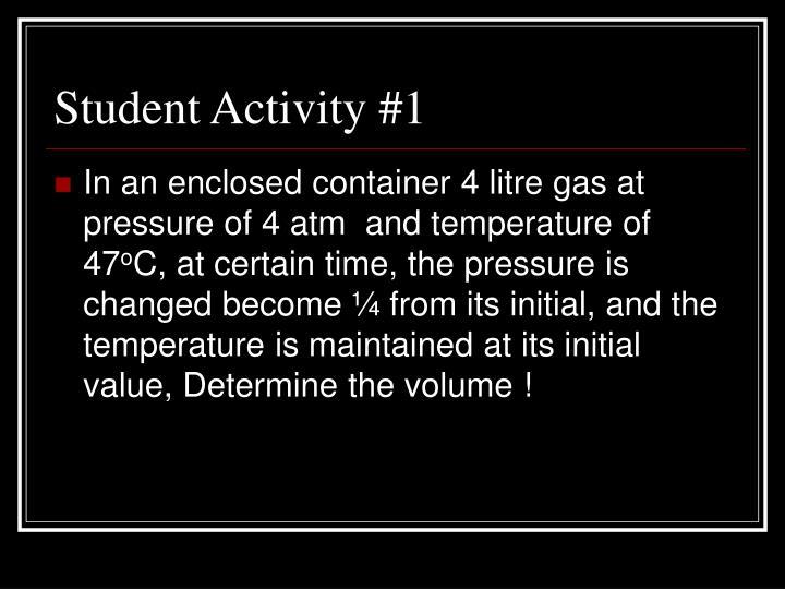 Student Activity #1