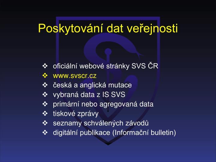 Poskytování dat veřejnosti